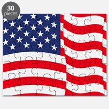 American Flag Waving Puzzle