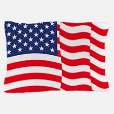 American Flag Waving Pillow Case