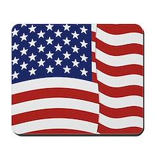 American Flag Waving Mousepad