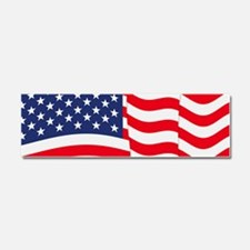 American Flag Waving Car Magnet 10 x 3