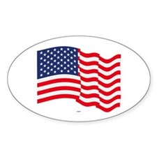 American Flag Waving Bumper Stickers