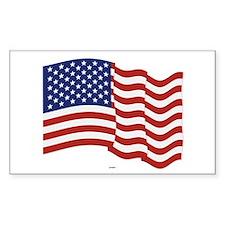 American Flag Waving Bumper Stickers