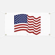 American Flag Waving Banner