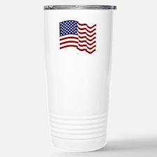 American Flag Waving Travel Mug