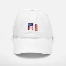 American Flag Waving Baseball Baseball Baseball Cap