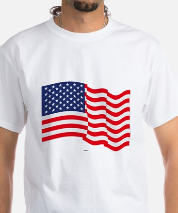 American Flag Waving T-Shirt