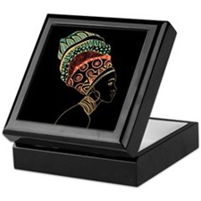 African Woman Keepsake Box