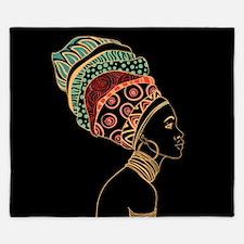 African Woman King Duvet
