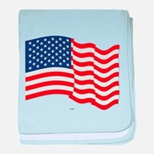 American Flag Waving baby blanket