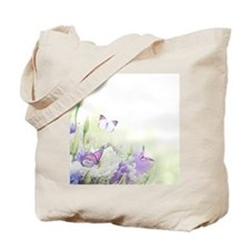 Flowers with Butterflies Tote Bag