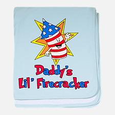 Daddys Little Firecracker baby blanket