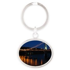 Maysville Ky Bridge Oval Keychain