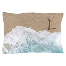 LETTERS IN SAND L Pillow Case