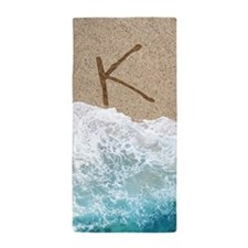 LETTERS IN SAND K Beach Towel