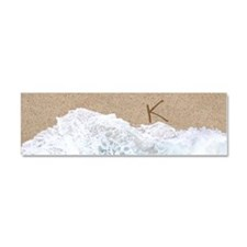 LETTERS IN SAND K Car Magnet 10 x 3