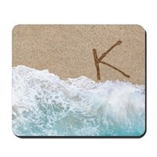 LETTERS IN SAND K Mousepad