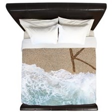 LETTERS IN SAND K King Duvet