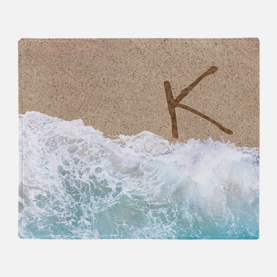 LETTERS IN SAND K Throw Blanket