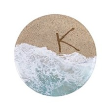 """LETTERS IN SAND K 3.5"""" Button"""