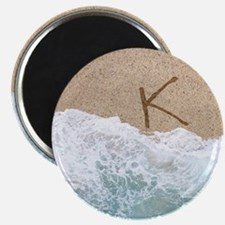 LETTERS IN SAND K Magnets
