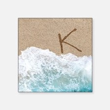 LETTERS IN SAND K Sticker