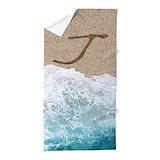 Letter j Beach Towels