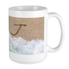 LETTERS IN SAND J Mugs