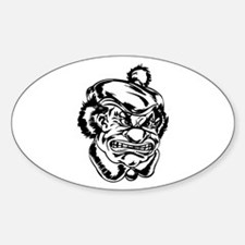 Scary Clown Oval Decal