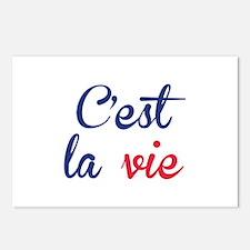 C'est La Vie Postcards (Package of 8)