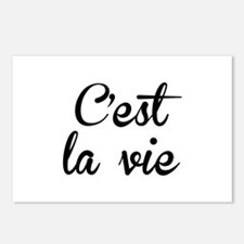 C'est La Vie Postcards (Package of 8)