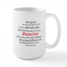 Hashtag Teacher Mugs