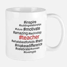 Hashtag Teacher Mugs