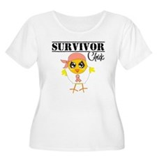 Endometrial Cancer Survivor Chick Plus Size T-Shir
