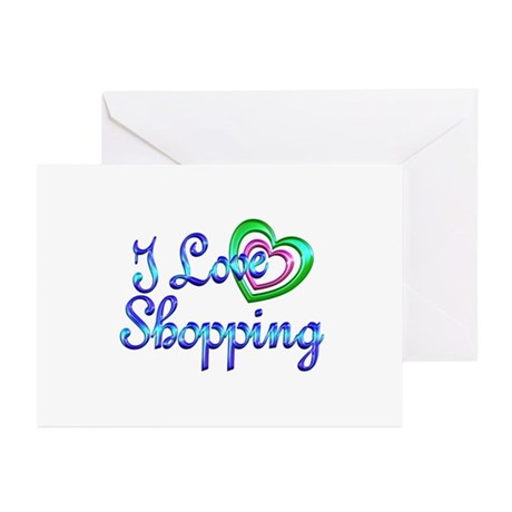I Love Shopping Greeting Cards (Pk of 20)