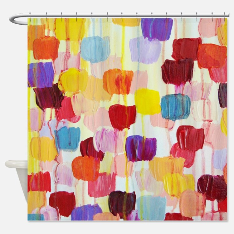 Pink And Blue Floral Shower Curtains Pink And Blue Floral Fabric Shower Curtain Liner