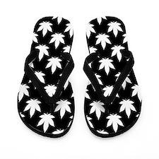 Cannabis Leaf Pattern Flip Flops