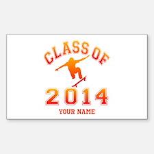 Class Of 2014 Skateboard Sticker (Rectangle)