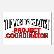"""The World's Greatest Project Coordinator"" Postcar"