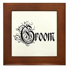 Groom Framed Tile