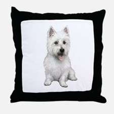 West Highland (P) Throw Pillow