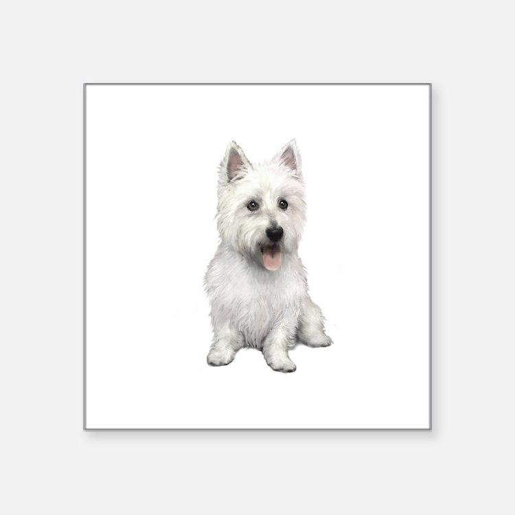 "West Highland (P) Square Sticker 3"" x 3"""