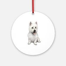 West Highland (P) Ornament (Round)