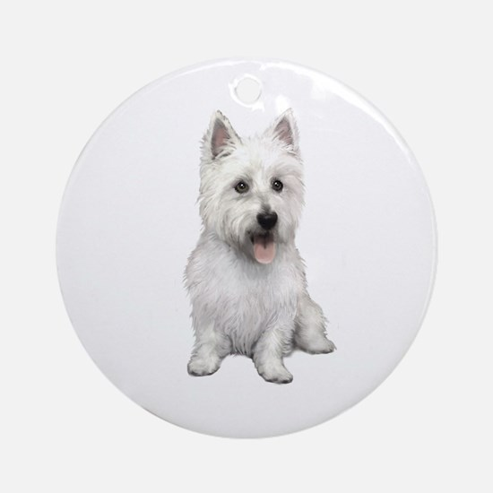 West Highland (P) Ornament (Round)