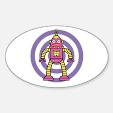 Pink/Yellow - Robot Decal