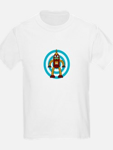 Red/Yellow - Robot T-Shirt