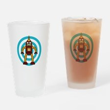 Red/Yellow - Robot Drinking Glass