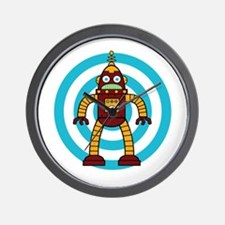 Red/Yellow - Robot Wall Clock