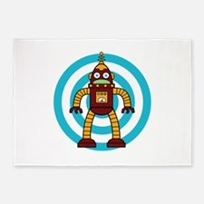 Red/Yellow - Robot 5'x7'Area Rug