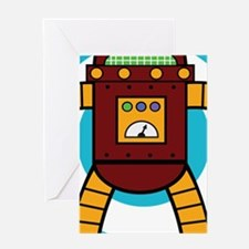 Red/Yellow - Robot Greeting Cards