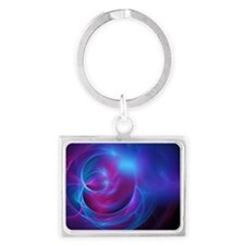 Nebula Galaxy Fractal Abstract  Landscape Keychain